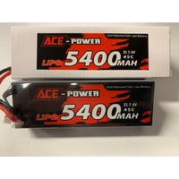 Ace Power - 7.4v 2S 5400mAh 45C Hard Case Lipo w/Deans Plug