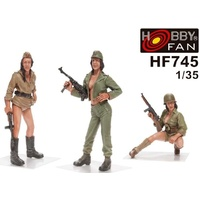 Hobby Fan - 1/35 Military Girls (Pin-Ups) - 3 Figures