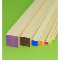 Balsa - Square 6.5mm X 915mm Red