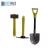 Hobby Details - 1/10 Scale Hammmer Pickaxe And Shovel Set