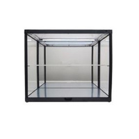 King Creation - 2 Layer Black Display Case - Mirrored Back & Base (W/LED)