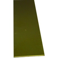 K&S - Brass Strips (12In Lengths) .016In X 2In (1 Strip Per Card)