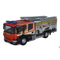 Oxford Diecast - 1/76 Humberside Fire And Rescue Pump Ladder - British Legion.