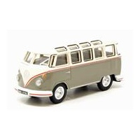 Oxford Diecast - 1/76 VW T1 Samba Bus Mouse Grey And Pearl White