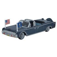 Oxford - 1/87 1961 Lincoln Continental X100 Presidential Blue Metallic