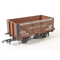 Oxford Rail - 1/76 John Blindells Black Vein 7 Plank Wagon #336