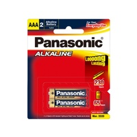 Panasonic - AAA Alkaline Battery (2 Pce)