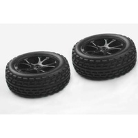 River Hobby - Front Buggy Tyre Set - Black (VRX Spirit)