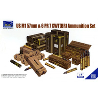 Riich Models - 1/35 US M1 57mm & 6PR 7cwt (BR) Ammunition Set
