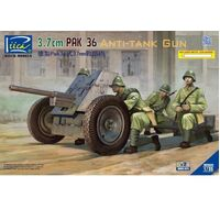 Riich Models - 1/35 German 3.7 cm Pak 36 Anti-Tank Gun w/Metal gun barrel (2 models per box)