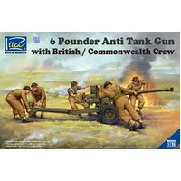 Riich Models - 1/35 6 Pounder Infantry Anti-tank Gun w/British Commonwealth Crews (5 Figures)