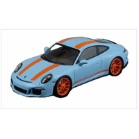 Schuco - 1/87 Porsche 911R Sky Blue W/Orange Stripes