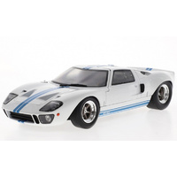 Solido - 1/18 Ford GT-40 Wide Body (White w/Blue Stripes)