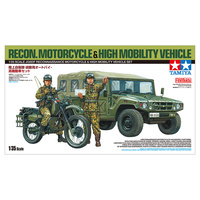Tamiya - 1/35 Jgsdf Reconnaissance Motorcycle & High Mobility Vehicle Set