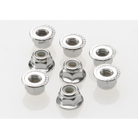 Traxxas - 4mm Flanged Nylon Lock Nuts (8 Pce)