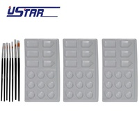 U-Star - Paint Brush Set w/Palettes